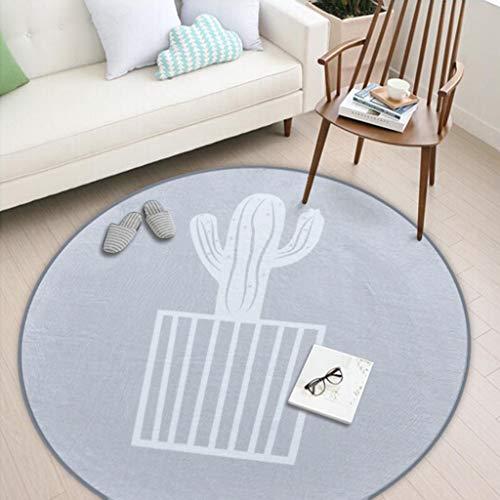 Zhao Li Vloerkleed voor de kinderkamer, antislip, wasbaar, vloerbescherming, bureaustoel, mat voor thuis, bureaustoelen, ronde kinderkruipdeken, tapijt