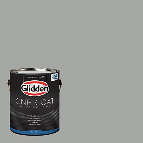 Glidden Interior Paint + Primer: Gray/Stepping Stone, One Coat, Semi-Gloss, 1-Gallon