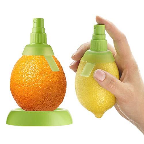 THETAG Zitronenpresse,Küche Manuelle Entsafter Zitronen-Sprüher Frischer Saft Kann Gleichmäßig auf Ihr Lieblingsessen Gesprüht Werden(Grün)