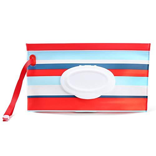 Artículos para bebés Botón Cubierta protectora Portátil Bolsa de toalla húmeda Caja de pañuelos Bolsa de maquillaje Accesorios de cochecito(4)