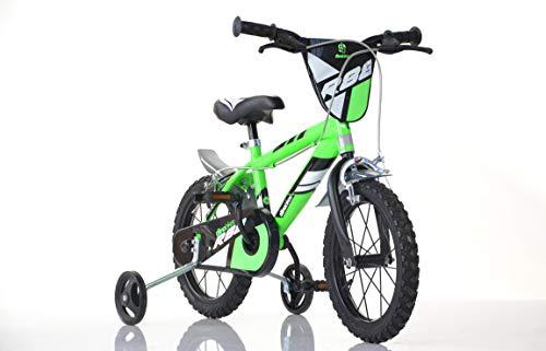 Jungen Kinderfahrrad grün 416U Jungenfahrrad – 16 Zoll | TÜV geprüft | Original | Kinderrad mit Stützrädern - Das Fahrrad als Geschenk für Jungen