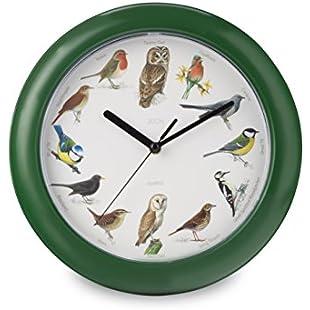 Zeon Tech Birdsong Wall Clock, Green, 24 x 24 x 1 cm:Kostenlosefilme