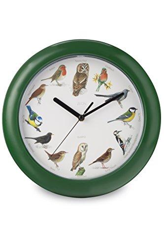 Unbekannt Zeon Tech Birdsong Wanduhr, grün, 24x 24x 1cm