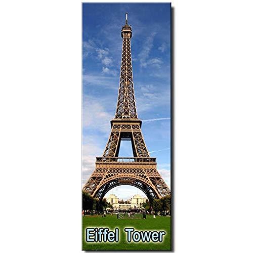 Eiffel Tower panoramic fridge magnet Paris France travel souvenir