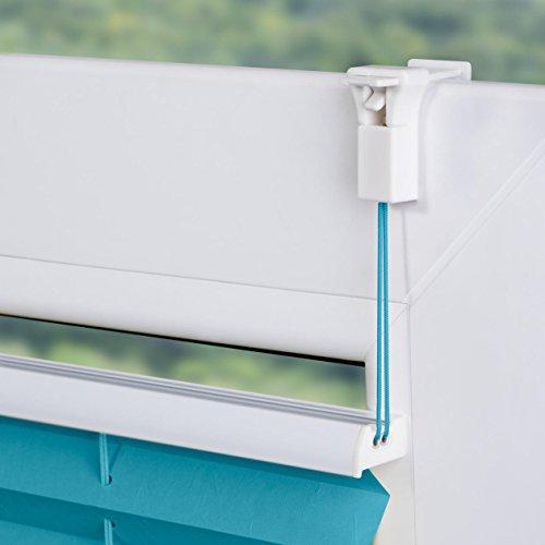 Lichtblick Plissee Klemmfix, 100 cm x 130 cm (B x L) in Blau, ohne Bohren, Sicht- und Sonnenschutz, lichtdurchlässig & blickdicht - 5