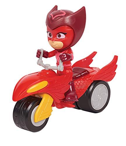 Simba  109402245 - PJ Masks Rover Eulette / mit Superhelden Action Figur / mit Spacehelm und Zubehör / rot / Figur 8cm groß, für Kinder ab 3 Jahren