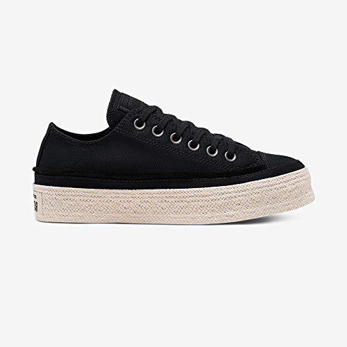 Converse Chucks CTAS Espadrille OX 568685C Black White Natural, Schuhgröße:38