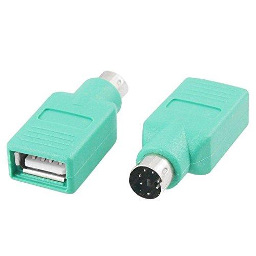I59 Adapter PS2 PS/2 Stecker auf USB 2.0 Buchse Konverter für PC Maus Tastatur, ermöglicht den Anschluss von Maus oder Tastatur mit USB-Anschluss