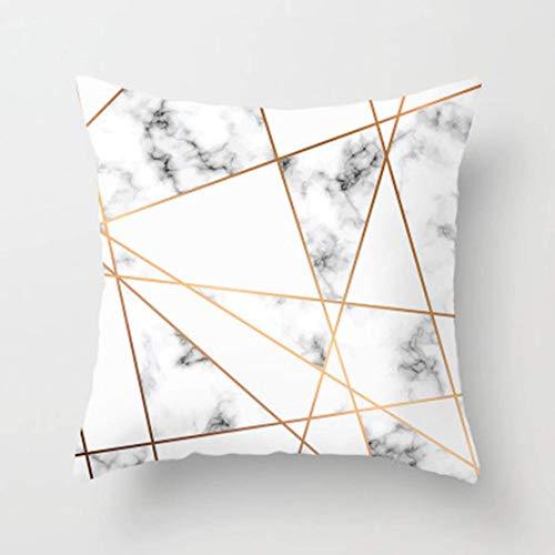 JGHF 45 x 45 cm Rosa Geométrico Abstracto Decorativo Funda de Almohada Patrón de Mármol Diseñador de Flores Blanco y Negro Gris Cojín Barato (Estilo 3,40 * 40 Almohada Núcleo)