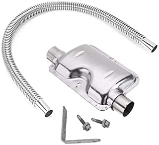 FYBlossom Edelstahl Abgasschlauch Schalldämpfer Set Auspuffrohr Gas Entlüftungsschlauch Schalldämpfer für Autos Luft Diesel Heizung, 120cm