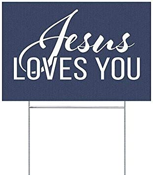 We are Open -Classic Navy Double-Sided Weather-Resistant Yard Sign | 18x12 CGSignLab |Yes 5-Pack