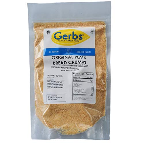 GERBS Original Plain Breadcrumbs, 32 ounce, Top 14 Food Allergen Free, Preservative Free, Keto, Vegan, Non GMO