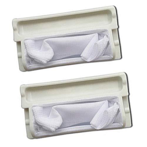 Fantisi 2 Bolso de Filtro plástico Blanco Duro de mallade Acoplamiento de Netty para Lavadora de Para Panasonic XQB28-W200W/XQB28-P200U/XQB28-P200W