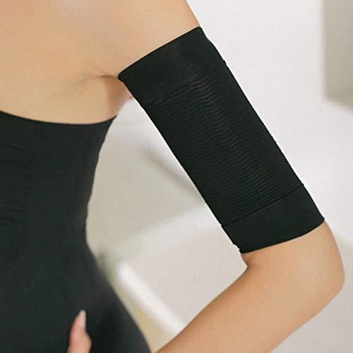LASISZ Abnehmen Kompressionsarme Ärmel Shaper für Frauen Oberarme Ärmel Form Taping Massage Abnehmen Armgürtel Kalorien aus, Schwarz, Einheitsgröße