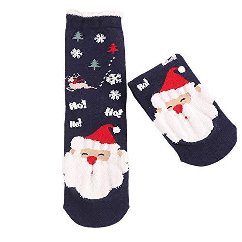 ZEELIY Chaussettes Hommes Chaussettes Femme, 3D Modèles de Noël Noel Santa Chaussettes Set pour Homme Femme Enfant E