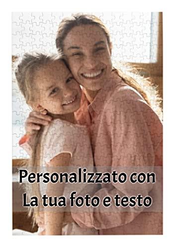 Foto puzzle personalizzato per adulti Bambini Famiglie, Legno Puzzle Personalizzati con la Tua Immagini Preferita, regalo per anniversario di compleanno, 300 pezzi (26x38cm/10.2x15in)