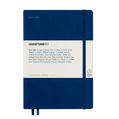 Leuchtturm1917358163Cuaderno Medium luminosidad (A5), punteado, color azul marino