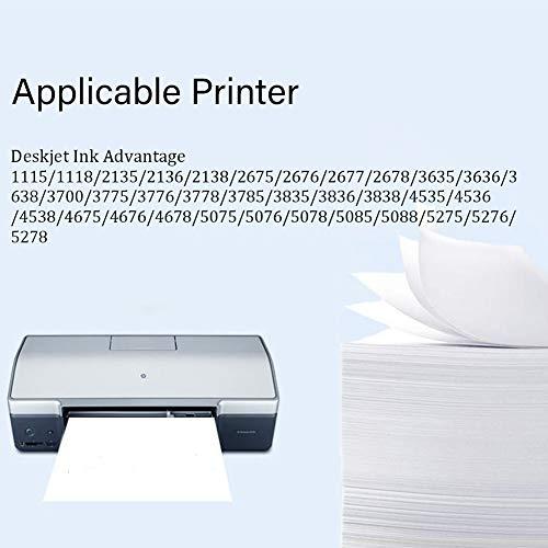 SSBY Reemplazo de Cartucho de Tinta remanufacturado para HP 664 664XL, Funciona con Deskjet Ink Advantage Deskjet 1115 1118 2135 2136 2138 2675 Impresora de Alto Rendimiento de página.-Black+Color