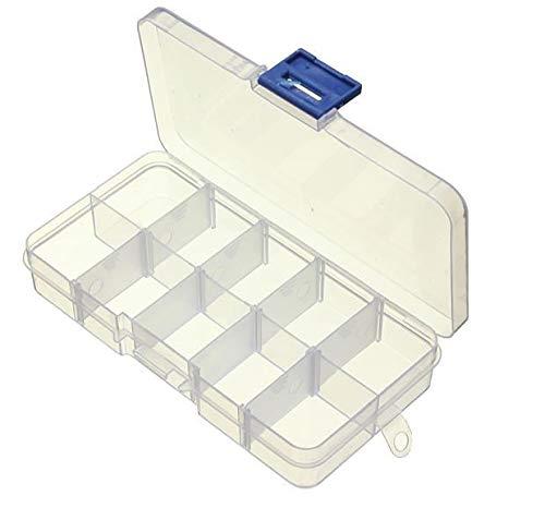 EUROXANTY Caja Organizador Ajustable | Caja de Almacenaje de Plástico | Organizador de Tornillos | Organizador de Joyas | Varios Compartimientos Extraíbles