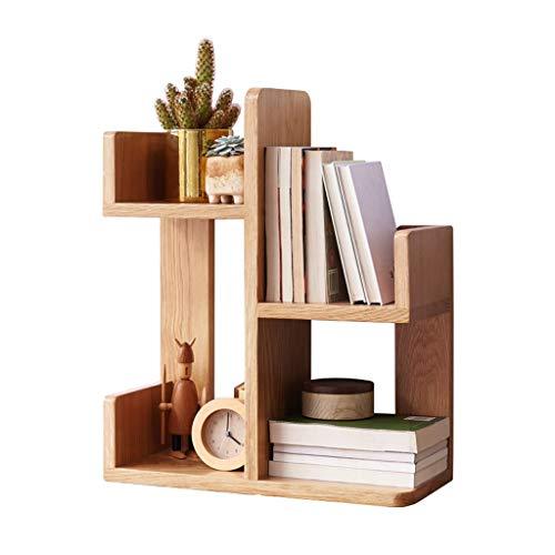 Estantería para Libros Estantería de madera maciza de múltiples funciones europea Estante de roble lleno en forma de cactus, puede almacenar libros / marcos de fotos / artículos decorativos Estante or