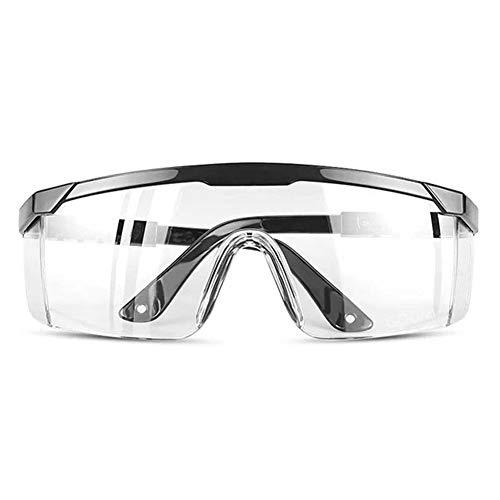 Gafas de Seguridad Gafas Protectoras Lentes de Seguridad Antivaho, para Laboratorio, Agricultura, Industria (Negro)