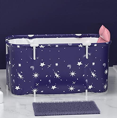 LQ-MAOZI Bañera portátil para Adultos Independiente no Inflable bañera de hidromasaje Aislamiento para Adultos baño ecológico Barril de bañera para Estudiantes Acampar en casa,B-140×55×50cm