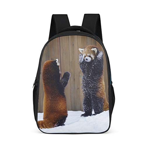 Red Pandas Lightweight Backpack for Teens Adults School Bags for Boys and Girls Gifts for Kids Book Bag Bright Gray OneSize