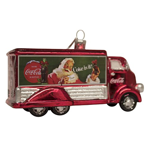 Kurt Adler Coca-Cola Glass Truck Ornament, 5-Inch