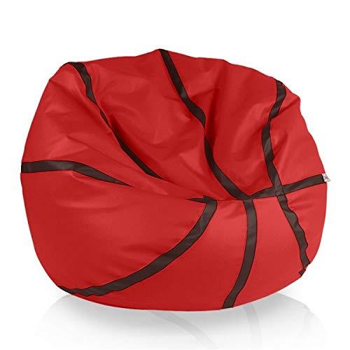 Italpouf Puff Asiento 55 x 100 cm Sillón Baloncesto Pelota Silla Grande Balon Basquet 300L 22 Colores