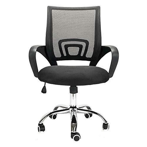 Modern Chair Ergonomic Office Desk Executive Task 360° Swivel Gas Lift Adjustable High - Low Black Mid-Back Mesh New