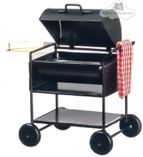 Dollhouse Miniature BBQ Grill with Towel by Town Square Miniatures