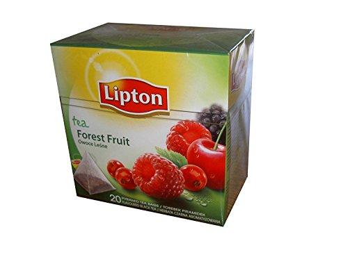 Lipton - Schwarzer Tee - Waldfrüchte - 20x Premium Pyramiden Teebeutel