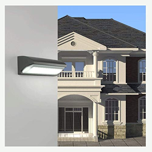 ZHAS Tian Wall Wash Lights Wall Lantern LED Regulable Aluminio Iluminación de Pared para Exteriores Iluminación de Patio Accesorio de iluminación (Color: luz Blanca + Arena Negra)