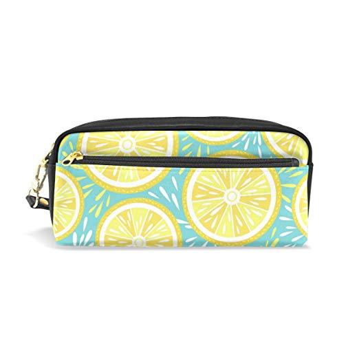 Yuanmeiju Mäppchen Large Capacity Holders Lemon Fruit Pattern Pen Stationery Pouch Bag with Zipper