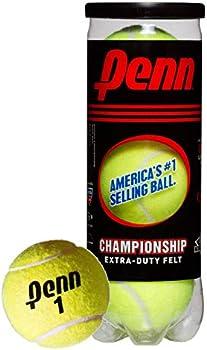 3-Count Penn Extra Duty Felt Pressurized Championship Tennis Balls