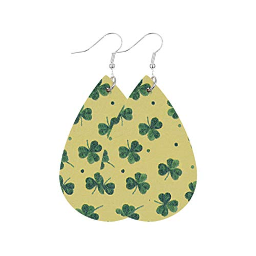 jieGorge☘ St. Patrick's Day Hook Earrings Shamrock Series Fashion Trend...