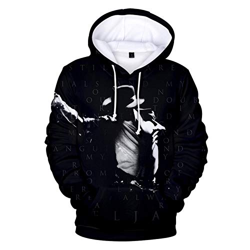 AIUIE Michael Jackson Unisex Hoodie 3D Print Kapuzenpullover Sweatshirts Mit Kapuze Pullover 3XL