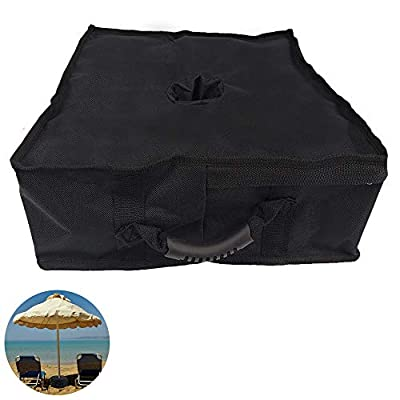 N\A Square Umbrella Base Weight Bag, Fits Any Offset, Cantilever & Any Outdoor Patio Umbrella Stand, Heavy Duty Windproof Sand Filled Up to 110 lbs