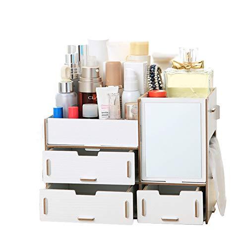 Weehey Caja de Almacenamiento de Escritorio Multifuncional Caja de Organizador de Maquillaje...