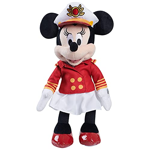 Just Play Disney Classics Captain Minnie Mouse 12.5-inch Plush, Disney Cruise Line Kids Toys, Stuffed Animal, Mouse