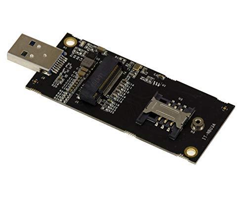 KALEA-INFORMATIQUE M2 NGFF (M.2 B Key) WWAN LTE 3G 4G zu USB 3.0 Adapter. Mit SIM-Slot. Kompatibel ME906 EM7345 ME936 ME206 EM7305 EM7355 MU736