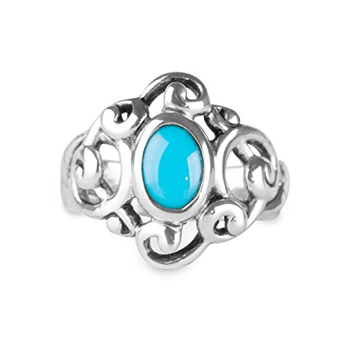 Carolyn Pollack Sterling Silver Sleeping Beauty Turquoise Gemstone Sculptural Ring Size 6