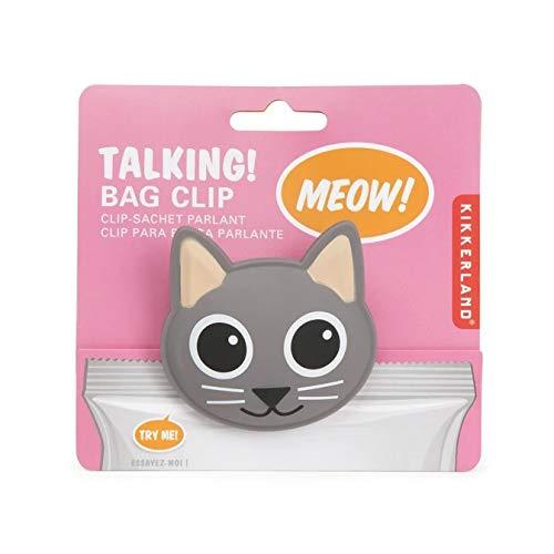 Kikkerland CAT Talking Bag Clip, Pack of 2