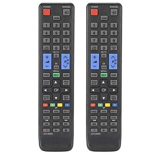 cigemay Control Remoto de TV, 2 Piezas de Control Remoto portátil Universal, reemplazo de Control Remoto, Adecuado para Samsung UE19D4000NW UE22D5000NH UE37D5000PW UE40D5005PW AA59-00465A