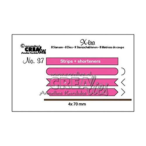 Unbekannt Crealies Die Xtra Strips Set A Nr. 37