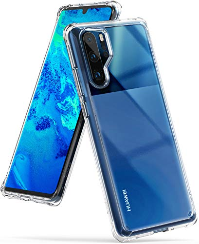 Ringke Fusion Designed for Huawei P30 Pro Crystal Clear PC Back Case Anti-Cling Dot Matrix Technology Lightweight Transparent TPU Bumper Drop Protective Phone Cover - Clear