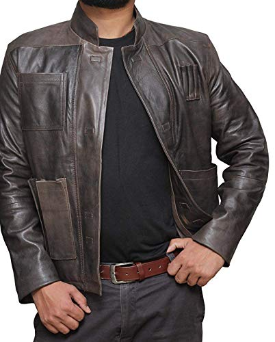 Han Solo A Star Wars Story Leather Jacket   L