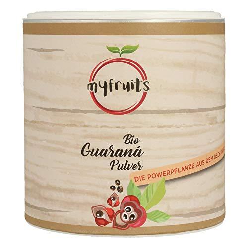 myfruits® Bio Guarana Pulver - ohne Zusätze, zu 100% aus Guarana-Samen - natürliche Kaffeealternative. Das Superfood aus dem Amazonas (250g)