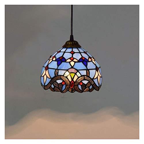 LIUCHUNYANSH Lámpara Colgante Lluminación Colgantes Dormitorio Tiffany Lámparas de pie del Grano cristalino del Vidrio Manchado de Lectura Lámpara de pie Resina Base de iluminación for la Sala
