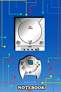 Notebook: Sega Dreamcast Console Illustration , Journal for Writing, College Ruled Size 6